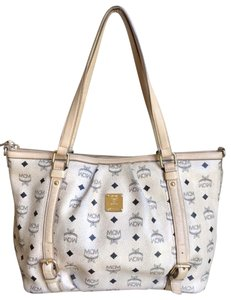 MCM Cognac One Shoulder Gucci Cream Diaper Bag