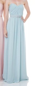 Bari Jay Blue Bc 1500 Formal Bridesmaid/Mob Dress Size 8 (M)