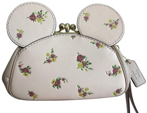 Coach Disney Minnie Mickey Wristlet in Pink