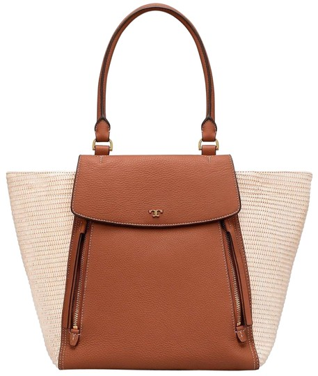 Preload https://img-static.tradesy.com/item/23781783/tory-burch-half-moon-straw-naturalclassic-tan-leather-tote-0-4-540-540.jpg