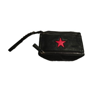 Givenchy Pandora Red Star Wristlet Black Clutch