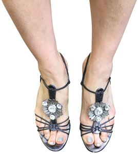 Emanuel Ungaro Pewter Sandals