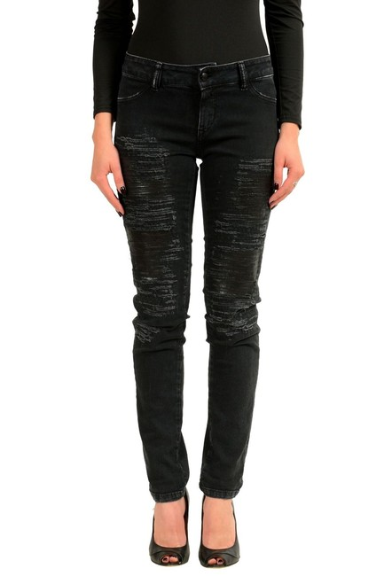 Preload https://img-static.tradesy.com/item/23781818/just-cavalli-dark-gray-chic-women-s-stretch-ripped-slim-skinny-jeans-size-28-4-s-0-0-650-650.jpg