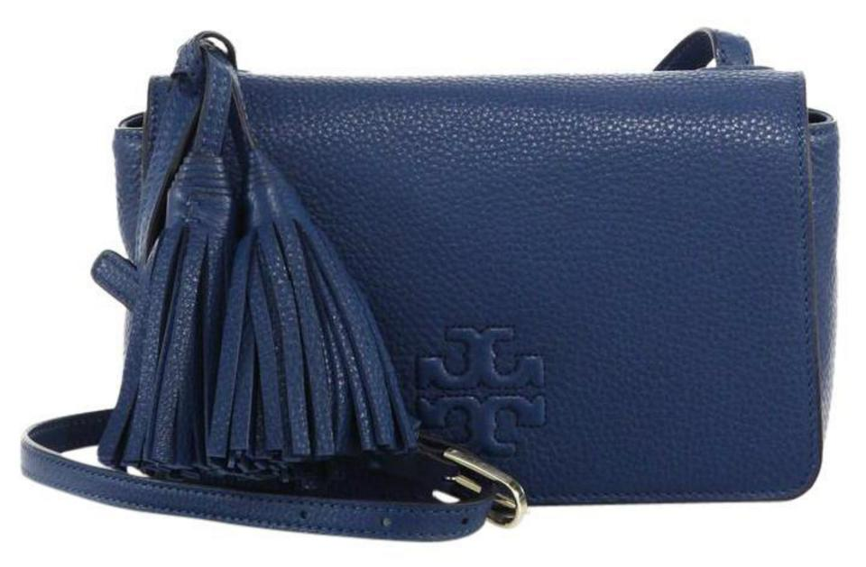968a86e9d18bf Tory Burch Thea Mini Tidal Wave Leather Cross Body Bag - Tradesy