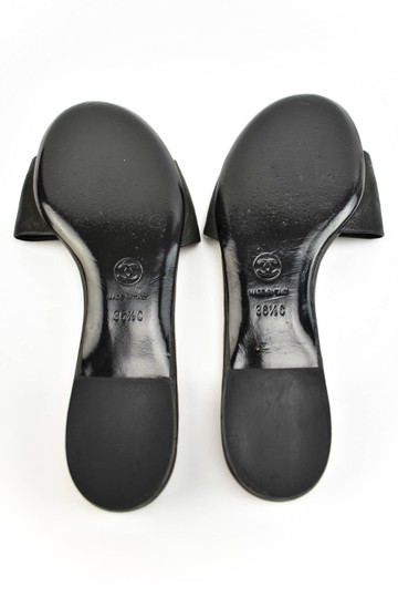 Chanel Logo Cc Leather Black Sandals