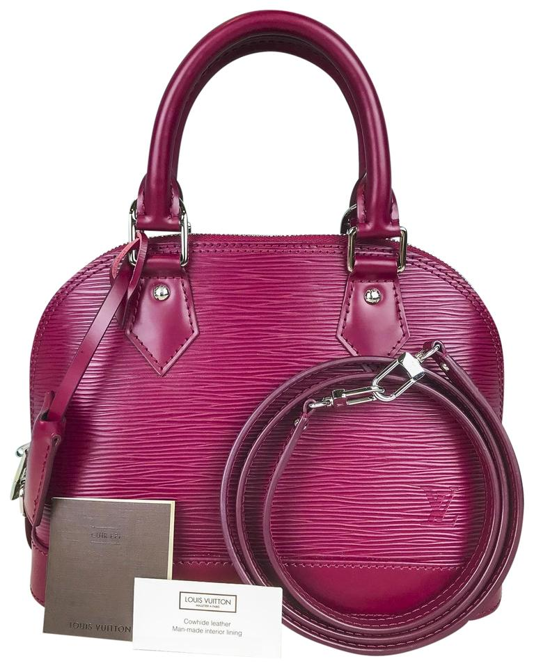 Louis Vuitton Alma Bb Epi Magenta Leather Satchel - Tradesy 5b6a0df80d
