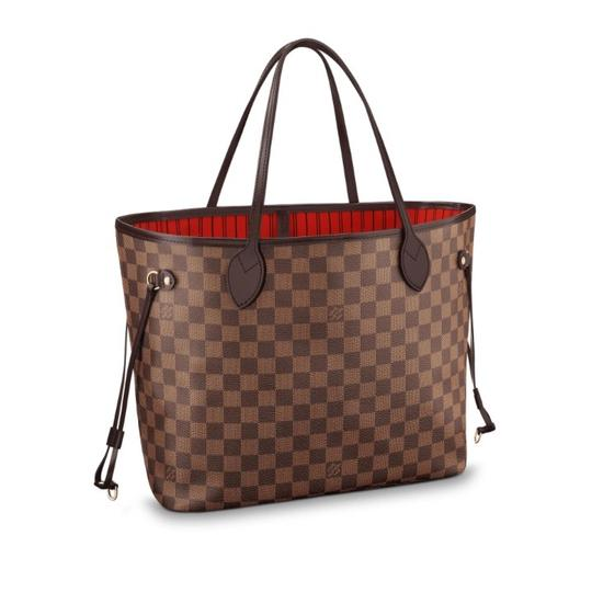 Preload https://item1.tradesy.com/images/louis-vuitton-neverfull-mm-damier-ebene-brown-coated-canvas-tote-23781895-0-3.jpg?width=440&height=440