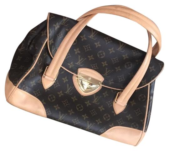 Preload https://item4.tradesy.com/images/louis-vuitton-lv-brown-leather-satchel-23781903-0-1.jpg?width=440&height=440