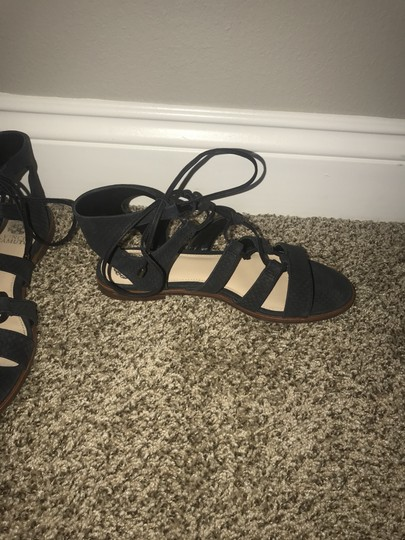 Vince Camuto Flat Navy Sandals