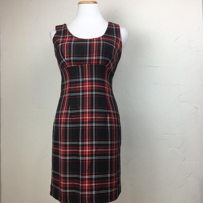 Preload https://img-static.tradesy.com/item/23781963/lf-red-black-you-tartan-sleeveless-short-casual-dress-size-4-s-0-0-650-650.jpg
