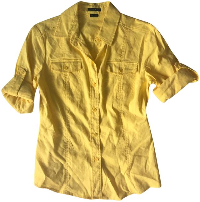 Theory Button Down Shirt Yellow
