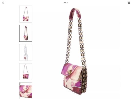 Preload https://img-static.tradesy.com/item/23781984/emilio-pucci-chain-retail-stunning-pinksreds-see-photo-cotton-canvas-shoulder-bag-0-0-540-540.jpg