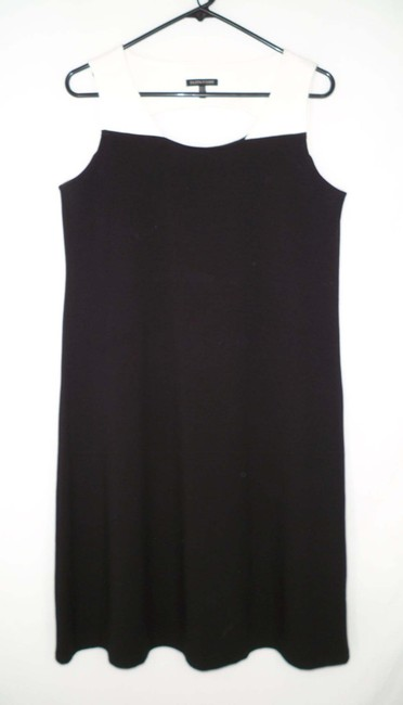 Eileen Fisher short dress Cut Out Rayon Ponte Jersey Color-blocking on Tradesy