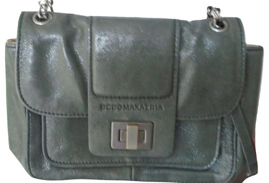 Preload https://item3.tradesy.com/images/bcbgmaxazria-charcoal-gray-leather-shoulder-bag-23781997-0-1.jpg?width=440&height=440
