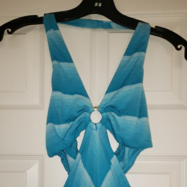 Blue and white Maxi Dress by bebe