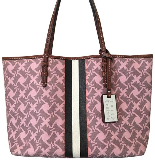 Preload https://img-static.tradesy.com/item/23782066/juicy-couture-signature-scottie-dog-pattern-with-stripe-pink-leather-tote-0-1-540-540.jpg