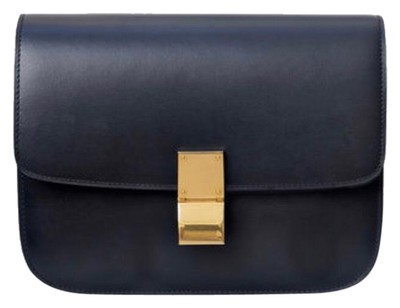 93969e081334 ... Céline Classic Box Medium Navy Calfskin Leather Shoulder Bag the best  attitude 124c6 fe923 ...
