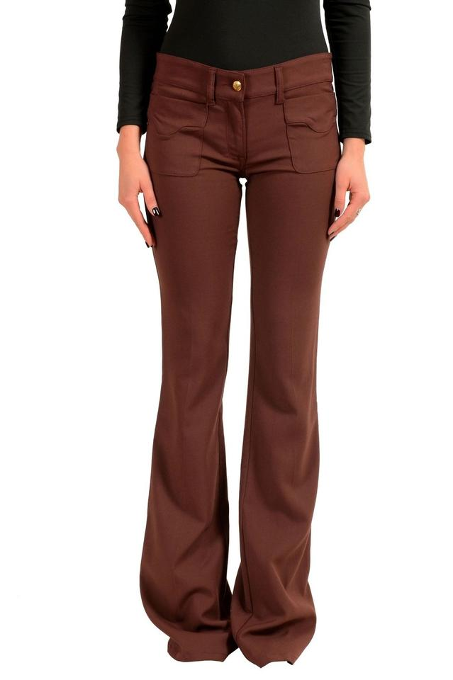 026156c2 Just Cavalli Brown Women's Stretch Casual Pants Size 4 (S, 27) 78% off  retail