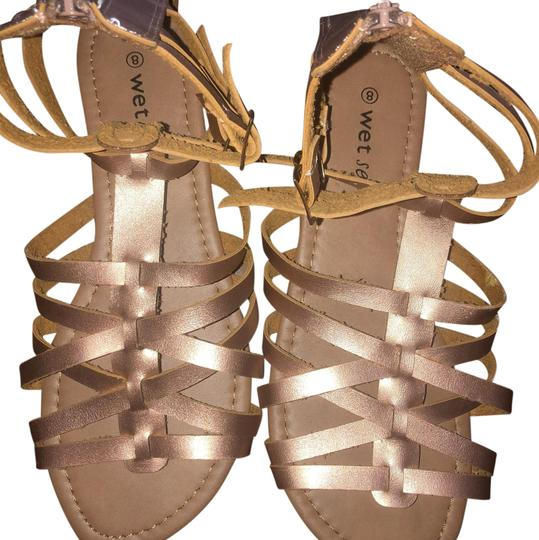 Wet Seal rose gold Sandals