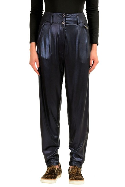 Preload https://item4.tradesy.com/images/just-cavalli-blue-women-s-harem-style-coated-casual-straight-leg-pants-size-4-s-27-23782128-0-0.jpg?width=400&height=650