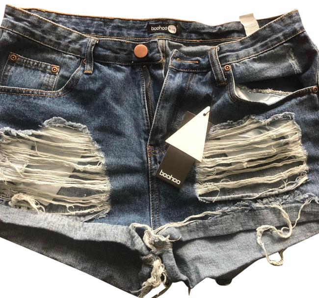 Preload https://item5.tradesy.com/images/distressed-blue-denim-shorts-size-12-l-32-33-23782129-0-2.jpg?width=400&height=650
