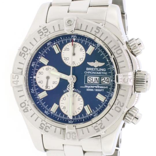 Breitling Breitling Chrono SuperOcean Day Date 42MM Blue Dial Steel Mens A13340