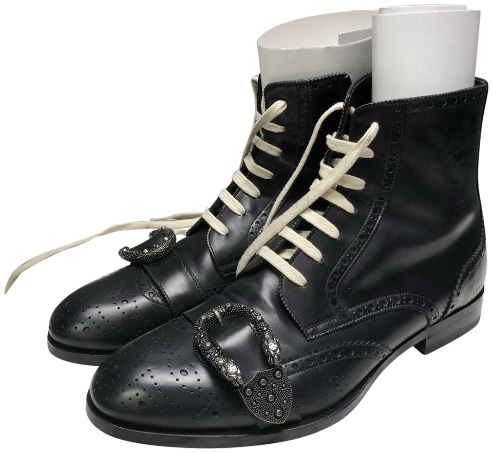 e84c2291c2b Gucci Black Men's Queercore Brogue (In Season ) Boots/Booties Size US 9.5  Regular (M, B) 44% off retail