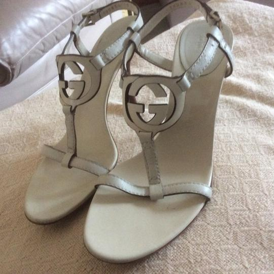 Gucci **price reduced 9/16** Mystic White Sandals