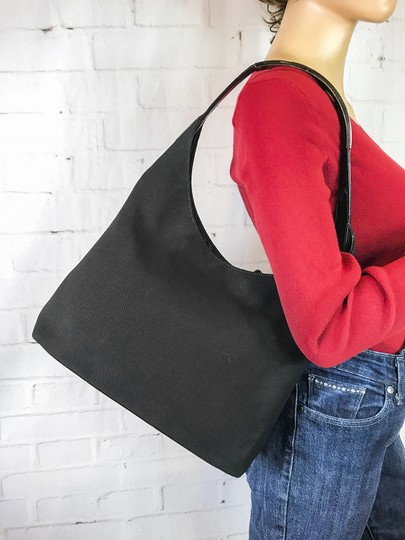 Gucci Canvas Hobo Shoulder Bag