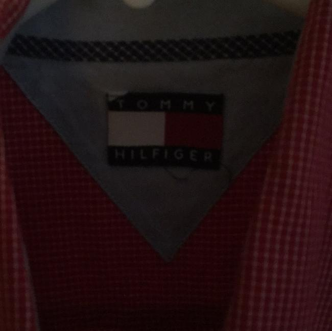 Tommy Hilfiger Button Down Shirt checkered white and red