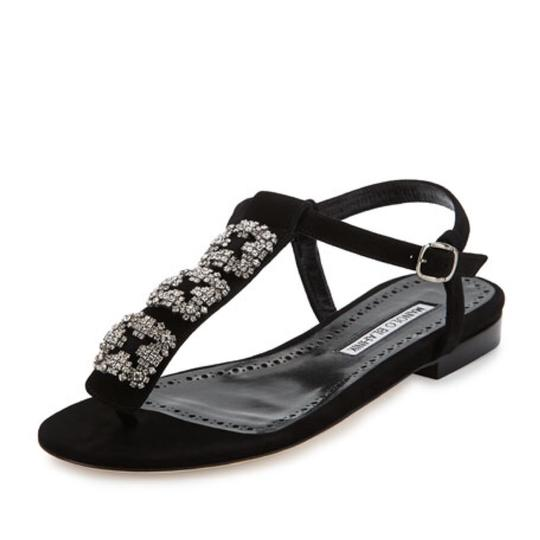 Preload https://item1.tradesy.com/images/manolo-blahnik-black-ottolina-suede-ottolina-hangisi-crystal-t-strap-thong-sandals-size-us-75-regula-23782250-0-1.jpg?width=440&height=440