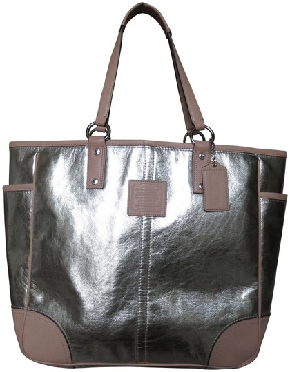 Preload https://item2.tradesy.com/images/coach-leather-trim-metallic-gold-tote-23782251-0-1.jpg?width=440&height=440