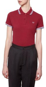 Fred Perry T Shirt Maroon