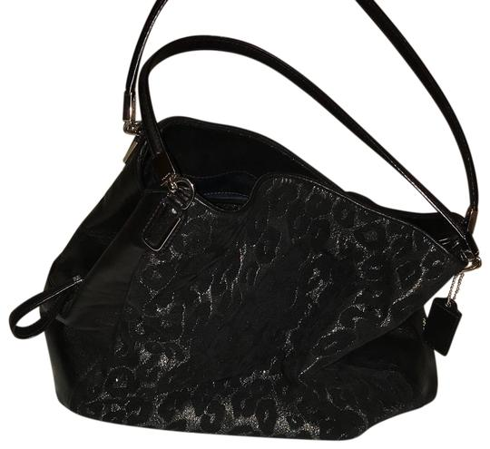 Preload https://item1.tradesy.com/images/coach-phoebe-madison-chenille-ocelot-shoulder-black-leather-hobo-bag-23782300-0-2.jpg?width=440&height=440