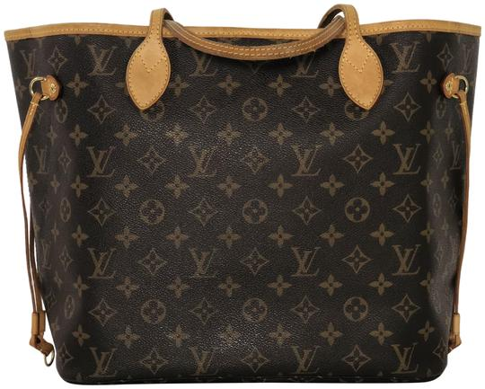 Preload https://item4.tradesy.com/images/louis-vuitton-neverfull-monogram-mm-brown-canvas-tote-23782313-0-1.jpg?width=440&height=440
