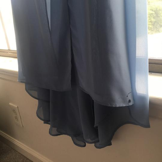 Alfred Angelo Blue Chiffon 7338l Once Upon A Time Sexy Bridesmaid/Mob Dress Size 4 (S)