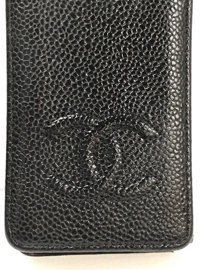 Chanel Black Caviar Leather 'CC' Wallet & Phone Foldover Case Iphone 4