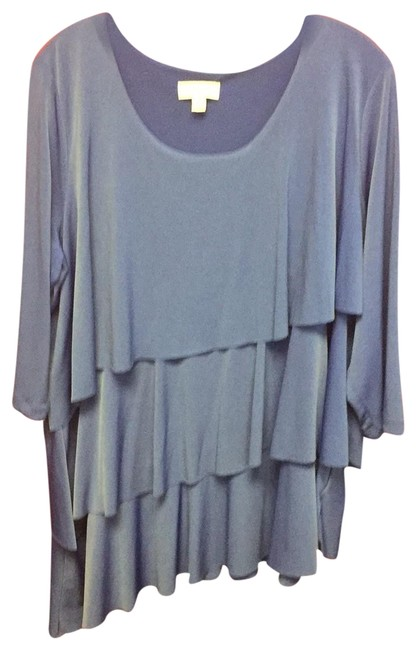 Preload https://img-static.tradesy.com/item/23782383/susan-graver-blue-ls-top-nwot-tunic-size-20-plus-1x-0-1-650-650.jpg