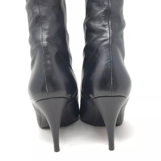Chanel black and silver Boots