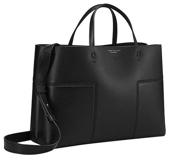 Preload https://item1.tradesy.com/images/tory-burch-t-block-t-triple-compartment-blackblack-leather-tote-23782430-0-0.jpg?width=440&height=440