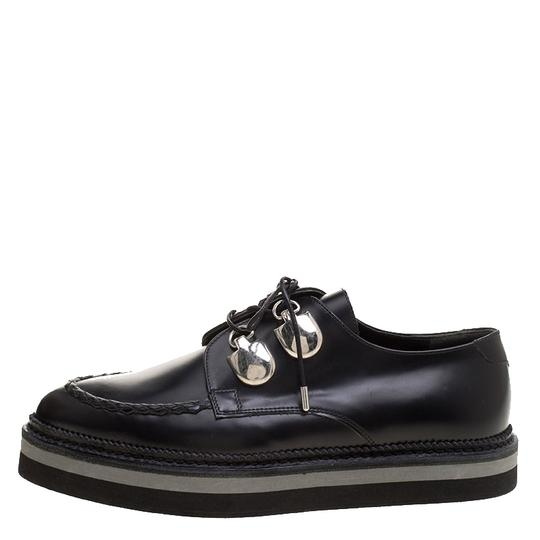 Alexander McQueen Leather Lace Black Flats