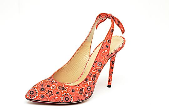Charlotte Olympia Stiletto Coral, Black, White Pumps