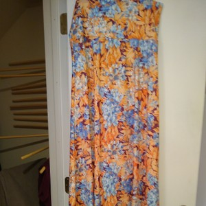 LuLaRoe Maxi Skirt Blue, orange, purple