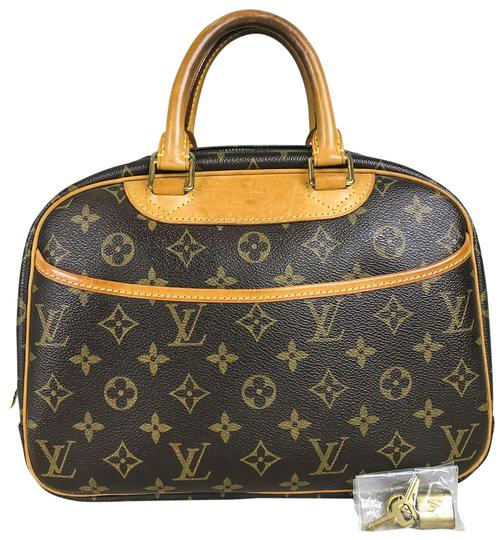 Preload https://item4.tradesy.com/images/louis-vuitton-trouville-monogram-brown-canvas-satchel-23782478-0-1.jpg?width=440&height=440