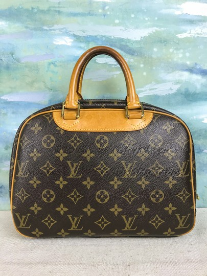 Louis Vuitton Trouville Monogram Satchel in Brown