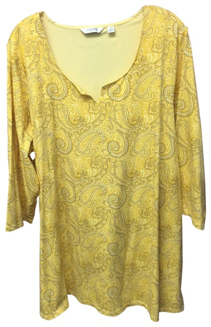 Preload https://img-static.tradesy.com/item/23782485/liz-claiborne-yellow-ls-tunic-size-22-plus-2x-0-1-650-650.jpg