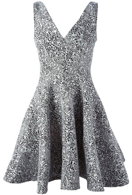 Preload https://item1.tradesy.com/images/opening-ceremony-black-and-white-abstract-jacquard-flared-mid-length-cocktail-dress-size-4-s-23782490-0-2.jpg?width=400&height=650