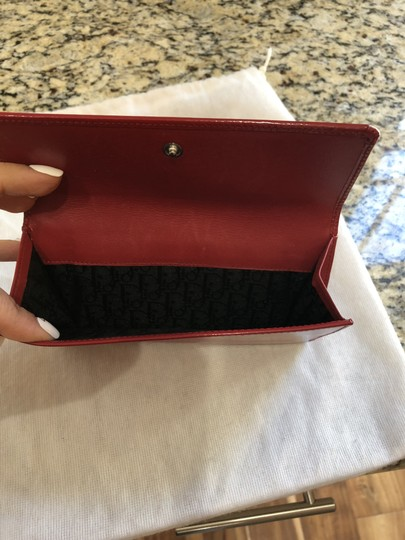 Dior Dior Red Patent Wallet