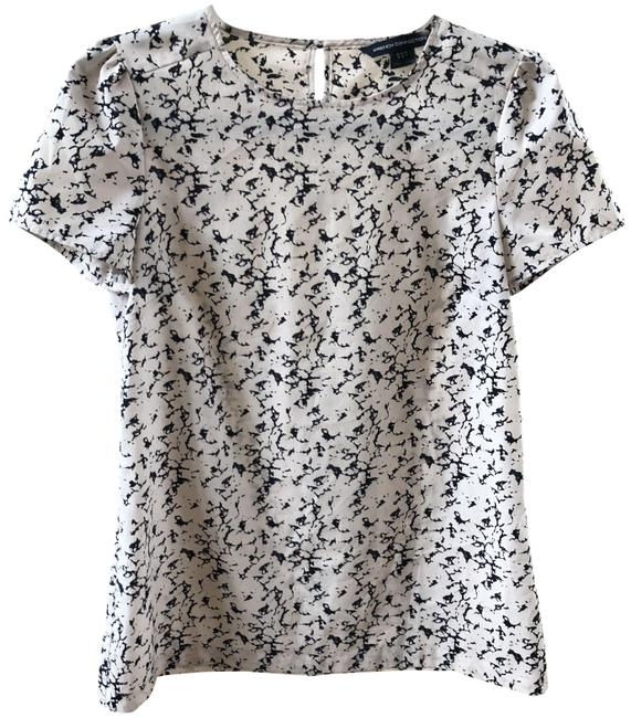 Preload https://item1.tradesy.com/images/french-connection-baby-pink-black-short-sleeve-blouse-size-4-s-23782530-0-1.jpg?width=400&height=650