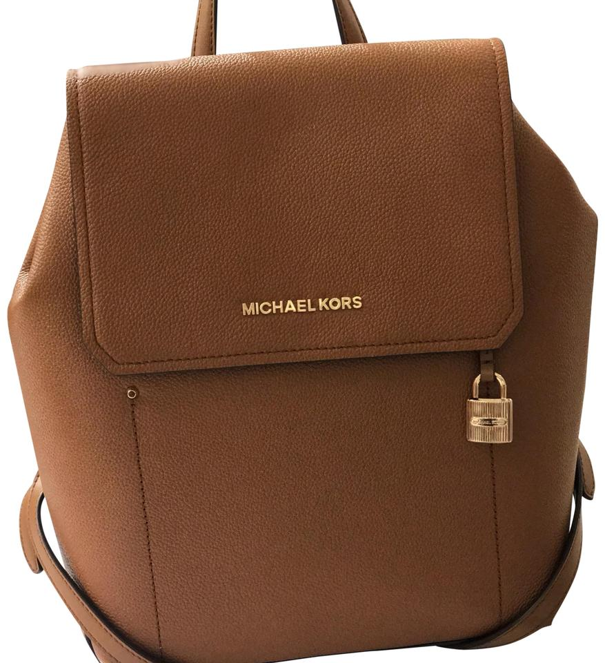 0c9cea2a26cb Michael Kors Hayes Medium Size Luggage Leather Backpack - Tradesy